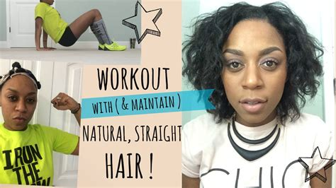 workout with straight natural hair youtube