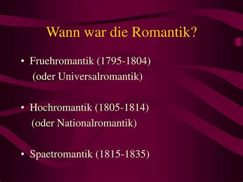 wann war die empfängnis ppt die romantik powerpoint presentation id 1322658