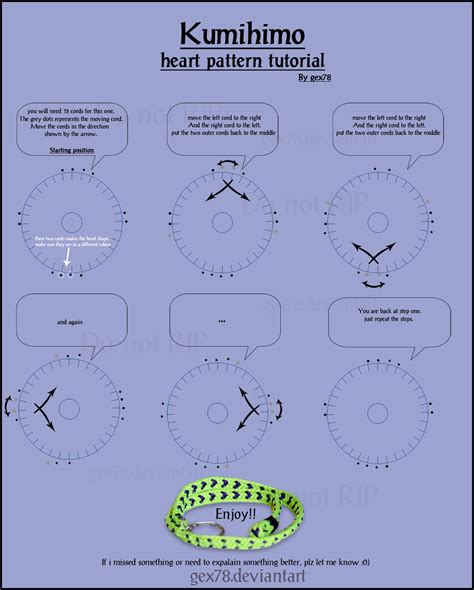 kumihimo pattern maker kumihimo h e a r t tutorial by gex78 on deviantart