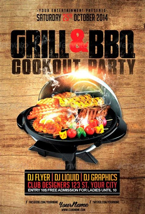 cookout flyer template 14 cookout flyer template psd images cookout flyer