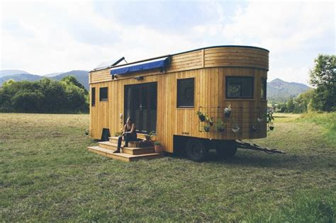 trailer houses wohnwagon off grid trailer made using recycled materials