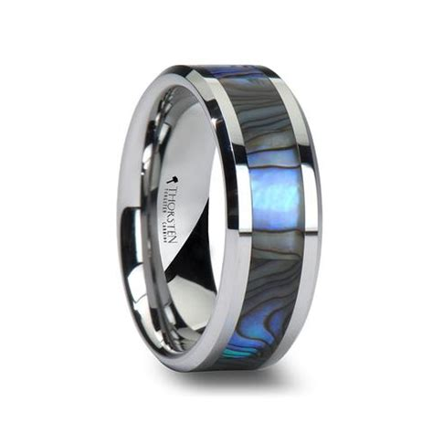 Wedding Bands Hq by Pacific S Tungsten Wedding Band With Of Pearl