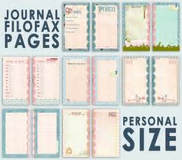 printable journal pages for filofax personal size