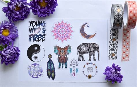 Wallpaper Self Adhesive by Stickers Boho Stickers Bohemian By
