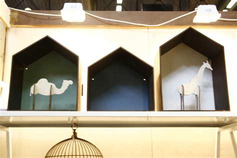 studio shelf w 30 x h 30 cm smoked oak blue background