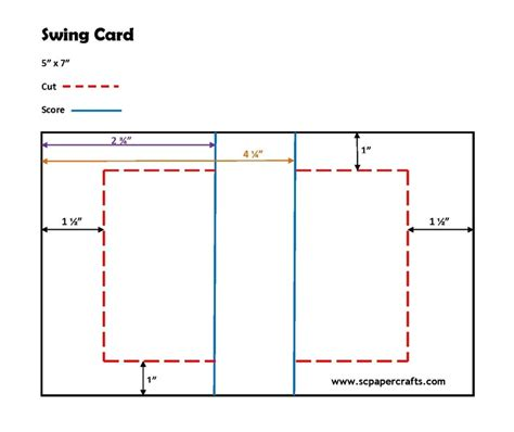 Kinetic Swing Card Template by 1000 Ideas About Swing Card On Card Templates