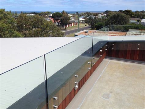 banister glass glass balustrade geelong frameless