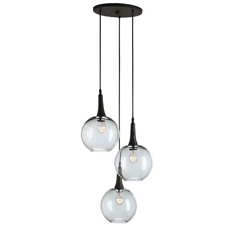 Multi Light Pendant Mid Century Modern Multi Light Pendant Rust Beckett Trio By Currey And Company Lighting 9969