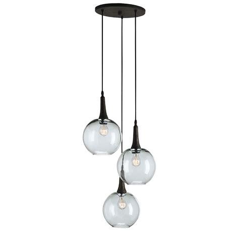 Multi Light Pendants Mid Century Modern Multi Light Pendant Rust Beckett Trio By Currey And Company Lighting 9969