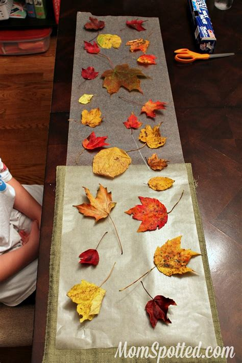 Craft Wax Paper - stained glass from wax paper leaves easy autumn craft