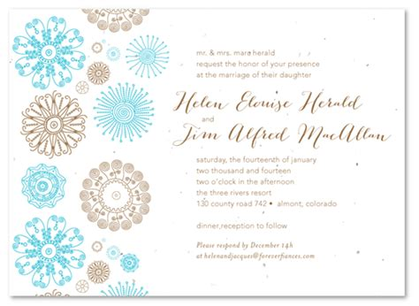 Wedding Announcement Write Up by Winter Wedding Invitations On White Seeded Paper Winter