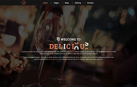 hot bootstrap themes delicious restaurant bootstrap 3 theme hot bootstrap