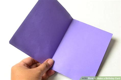 3 Ways To Make A Birthday Card Wikihow How To Make Colored Paper L