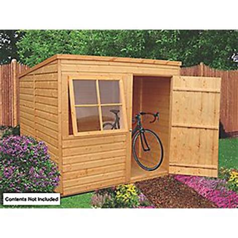 shire 7 x 7 nominal pent shiplap t g timber shed