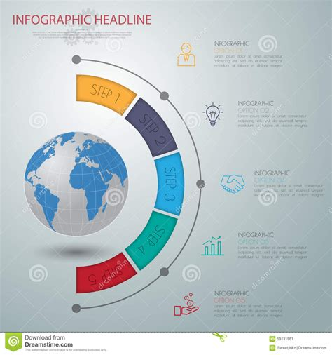 map layout graphic design abstract 3d digital illustration infographic with world