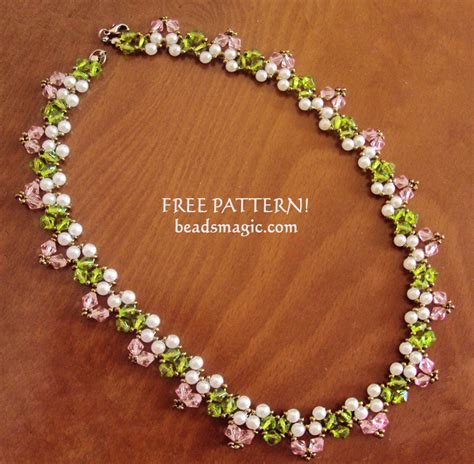 free beading tutorials free pattern for necklace way magic