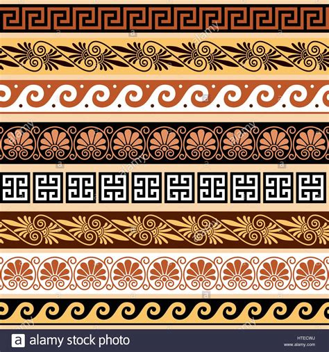 greek pattern texture ancient greek pattern seamless set of antique borders