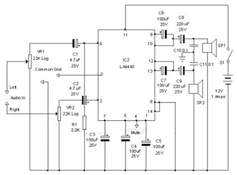car lifier integrated circuit of external parts required small pop noise at the time of power supply on and starting