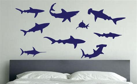 shark wall stickers shark wall decal wall decal themed