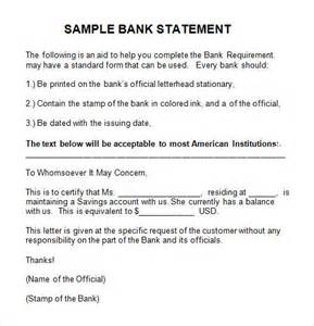 Request Letter For Bank Statement Of Company Sle Letter Request Bank Statement Company Cover