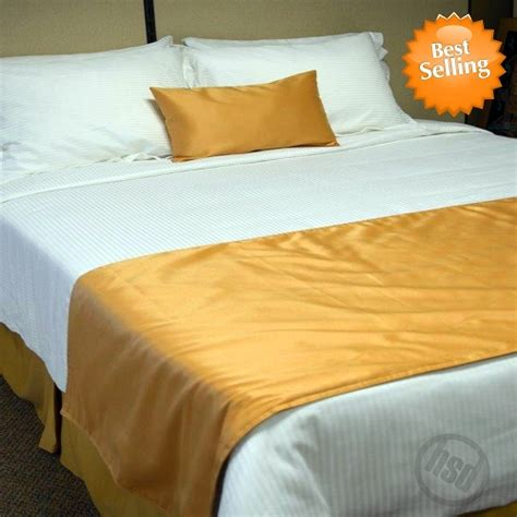 bed runners hotel self lined bed runners scarfs 100 micro polyester