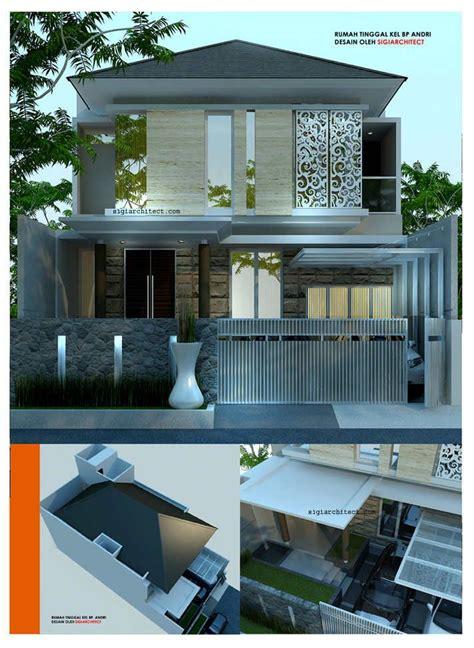 desain rumah modern minimalis  lantai bp andri denah rumah pinterest architecture batu