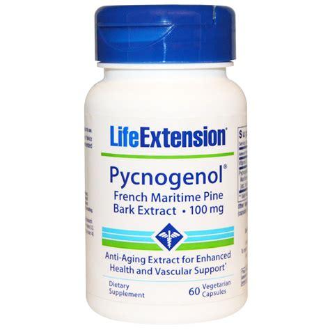 Extension Pygnogenol 100mg 60 Caps extension pycnogenol maritime pine bark extract 100 mg 60 veggie caps