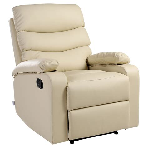 cream recliner chairs ashby cream leather recliner armchair sofa home lounge