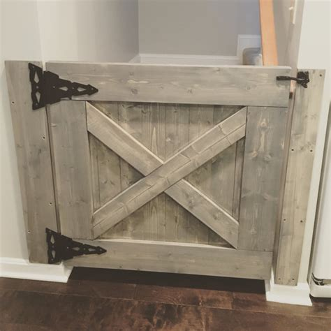 This Farmhouse Baby Gate Can Be Customized To Fit Any Barn Door Gates
