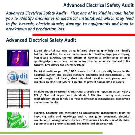 electrical audit report sle electrical safety audit sustenergy foundation