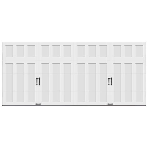 Clopay Garage Door Weight Clopay Coachman Collection 16 Ft X 7 Ft 18 4 R Value Intellicore Insulated Solid White Garage
