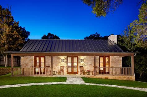 1 Story Country House Plans by Hill Country Retreat