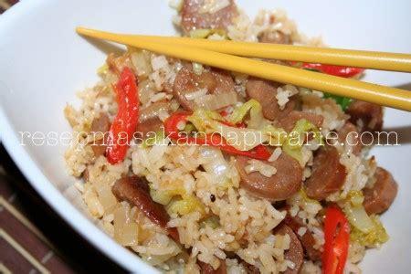 cara membuat nasi goreng untuk 1 orang resep cara membuat nasi goreng sosis resep masakan dapur