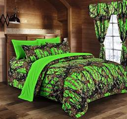 camouflage bedroom set day glow green camo bed in a bag set the sw company