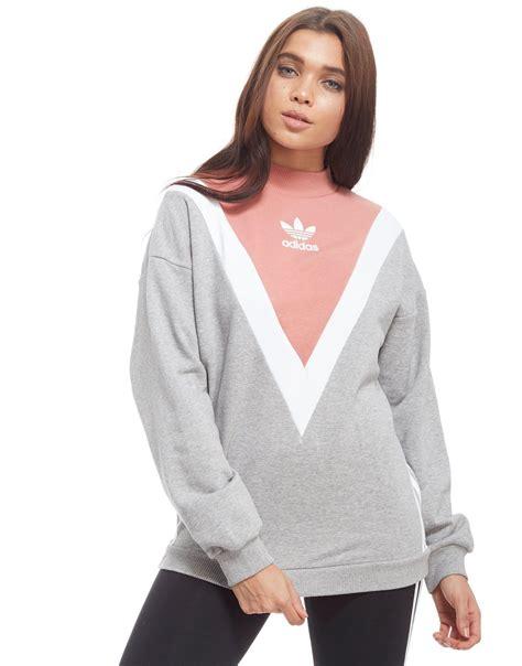 Chevron Sweatshirt lyst adidas originals chevron sweatshirt in gray