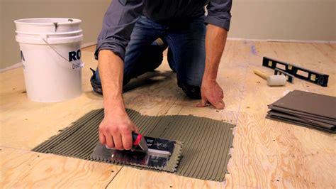 Laying Ceramic Tile On Hardwood Floor