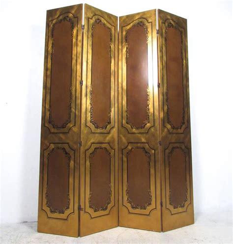 Gold Room Divider Impressive Vintage Gold Leaf Style Four Panel Room Divider For Sale At 1stdibs