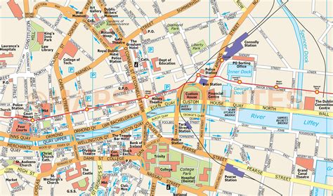 printable map dublin city centre royalty free dublin city map in illustrator and pdf vector
