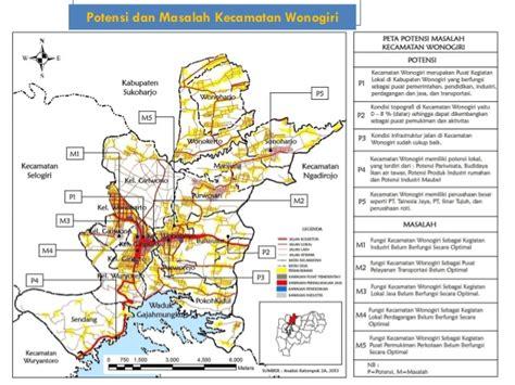 presentasi tugas studio perencanaan kecamatan wonogiri
