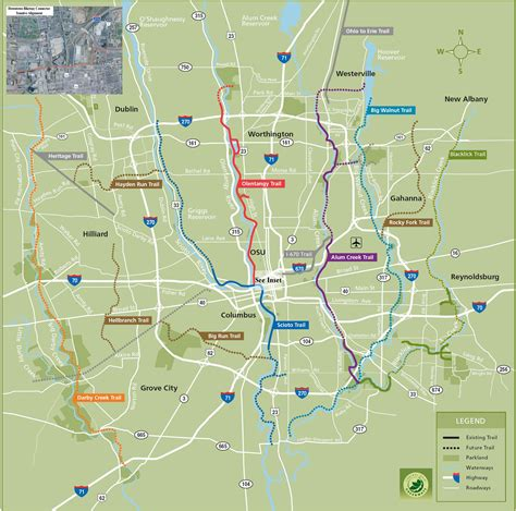 map of columbus ohio columbus bike map columbus oh usa mappery