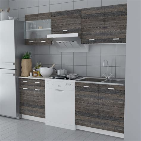 Pcs Cabinets by Vidaxl Co Uk Wenge Look Kitchen Cabinet Unit 5 Pcs With