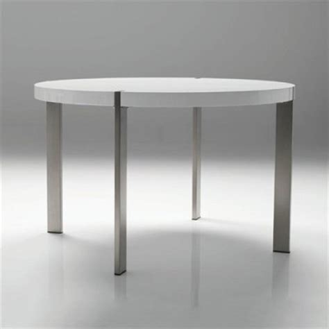 Voom Round Dining Table With Brushed Stainless Steel Legs Dining Table With Stainless Steel Legs
