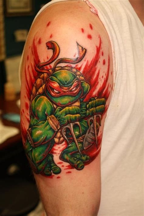 ninja turtle tattoos 15 magnificent turtles tattoos