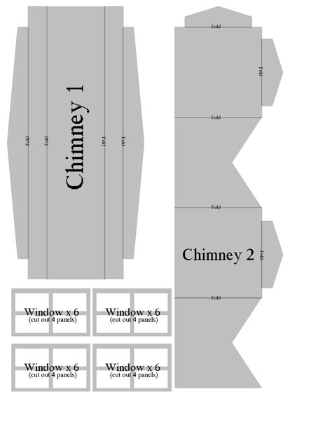 gingerbread house chimney template printable 301 moved permanently