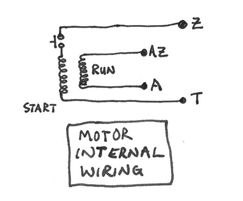 single phase motor with capacitor forward and wiring