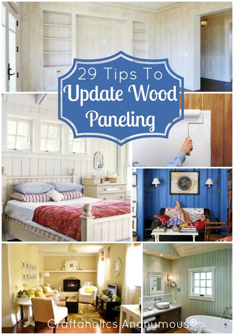 How To Update Wood Paneling | new house on pinterest hanging closet organizer old