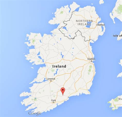 where is lismore on map ireland