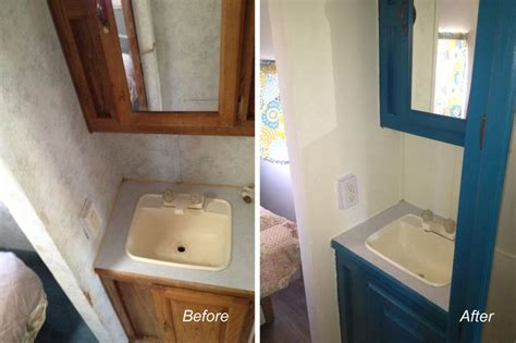 rv bathroom remodel remodel rv bathroom repaint cabinets rv cing