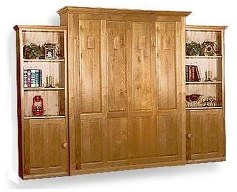 deluxe vertical murphy queen  full wall bed woodworking