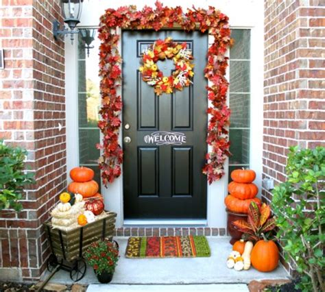 Autumn Front Door Decorations Fall Decorating Ideas Analog In A Digital World